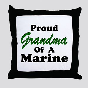Proud Grandma of a Marine Throw Pillow