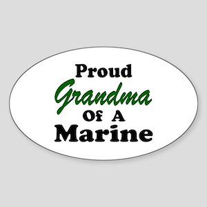 Proud Grandma of a Marine Oval Sticker