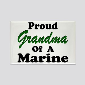 Proud Grandma of a Marine Rectangle Magnet