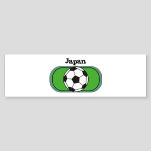 Japan Soccer Field Bumper Sticker
