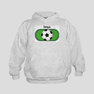 Iran Soccer Field Kids Hoodie