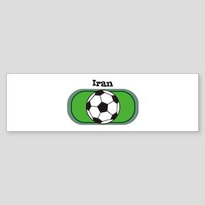 Iran Soccer Field Bumper Sticker