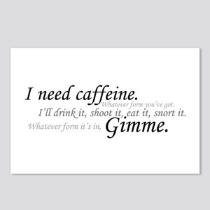 Caffeine Frenzy Postcards (Package of 8)