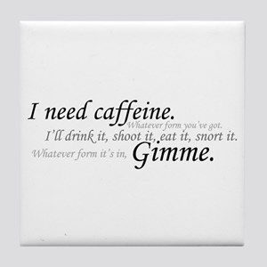 Caffeine Frenzy Tile Coaster