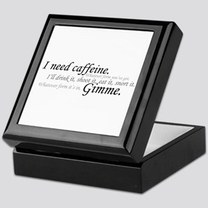 Caffeine Frenzy Keepsake Box