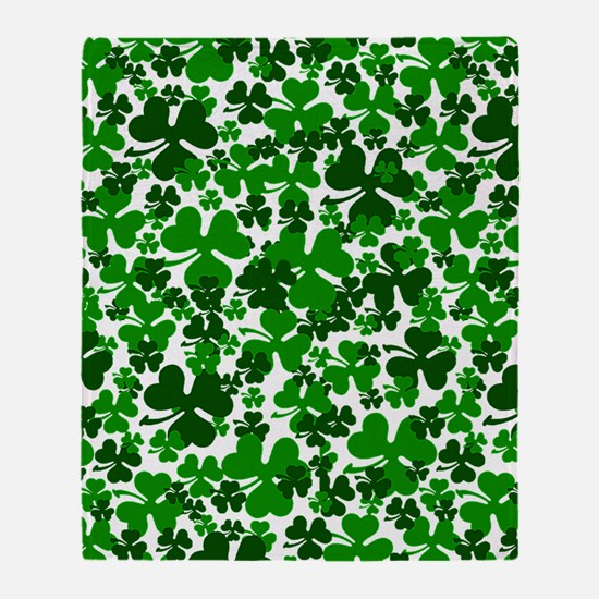 Shamrocks Throw Blanket