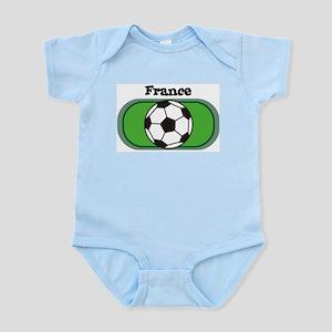 France Soccer Field Infant Creeper