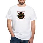 Respect All Life White T-Shirt