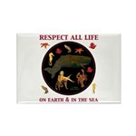 Respect All Life Rectangle Magnet (100 pack)