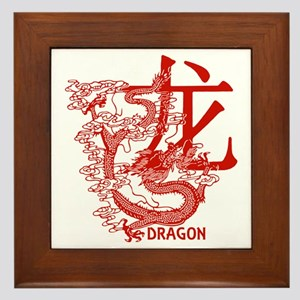Red Year Of The Dragon Framed Tile