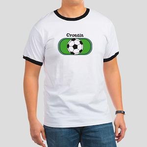 Croatia Soccer Field Ringer T
