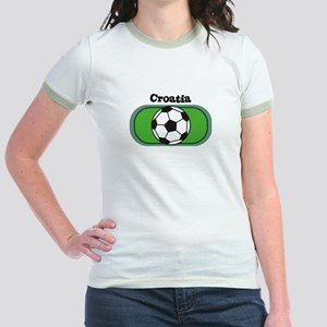 Croatia Soccer Field Jr. Ringer T-Shirt
