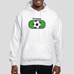 Croatia Soccer Field Hooded Sweatshirt
