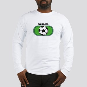 Croatia Soccer Field Long Sleeve T-Shirt