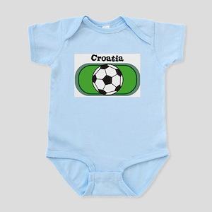 Croatia Soccer Field Infant Creeper