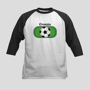 Croatia Soccer Field Kids Baseball Jersey