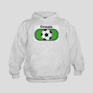 Croatia Soccer Field Kids Hoodie