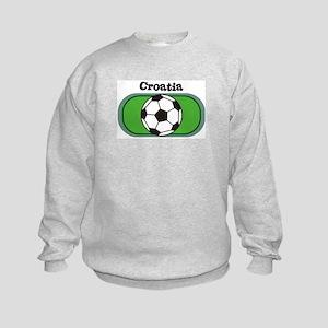 Croatia Soccer Field Kids Sweatshirt