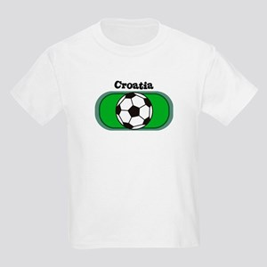 Croatia Soccer Field Kids T-Shirt