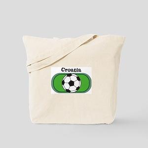 Croatia Soccer Field Tote Bag