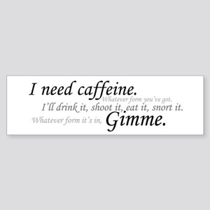 Caffeine Frenzy Bumper Sticker