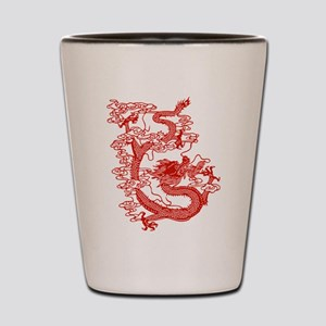 Red Chinese Dragon Shot Glass