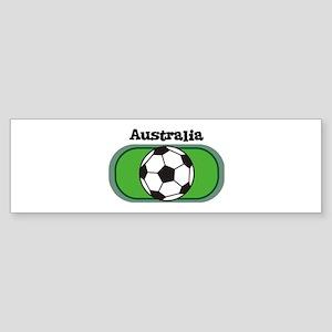 Australia Soccer Field Bumper Sticker