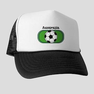 Australia Soccer Field Trucker Hat