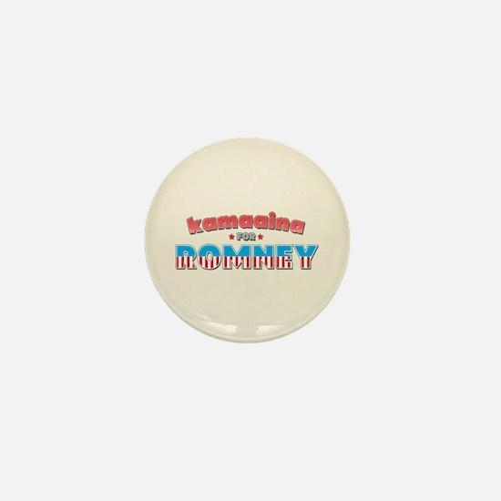 Kamaaina For Romney Mini Button