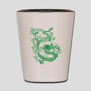 Green Chinese Dragon Shot Glass
