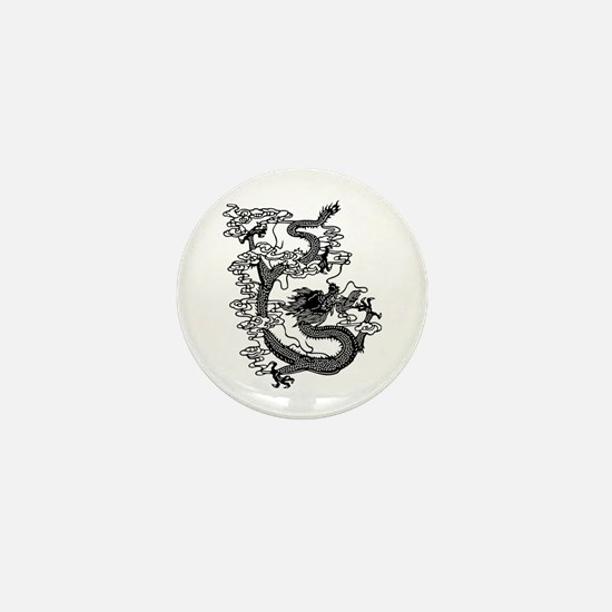Chinese Dragon Mini Button