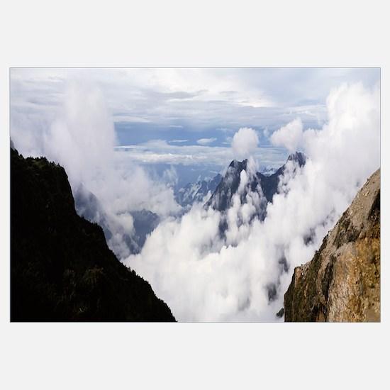 Clouds near a mountain range, Mt Kilimanjaro, Tanz