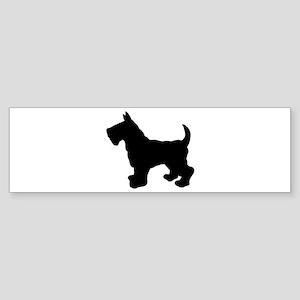 Scottish Terrier Silhouette Sticker (Bumper)