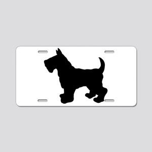 Scottish Terrier Silhouette Aluminum License Plate