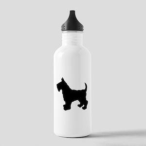 Scottish Terrier Silhouette Stainless Water Bottle
