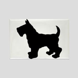 Scottish Terrier Silhouette Rectangle Magnet