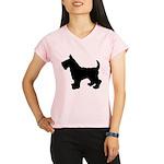 Scottish Terrier Silhouette Performance Dry T-Shir