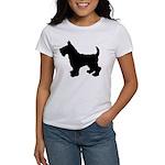 Scottish Terrier Silhouette Women's T-Shirt