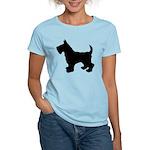 Scottish Terrier Silhouette Women's Light T-Shirt