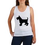 Scottish Terrier Silhouette Women's Tank Top