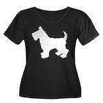 Scottish Terrier Silhouette Women's Plus Size Scoo