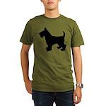Scottish Terrier Silhouette Organic Men's T-Shirt