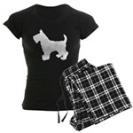 Scottish Terrier Silhouette Women's Dark Pajamas