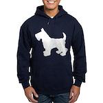 Scottish Terrier Silhouette Hoodie (dark)