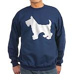 Scottish Terrier Silhouette Sweatshirt (dark)