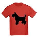 Scottish Terrier Silhouette Kids Dark T-Shirt