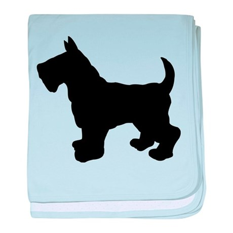 Scottish Terrier Silhouette baby blanket