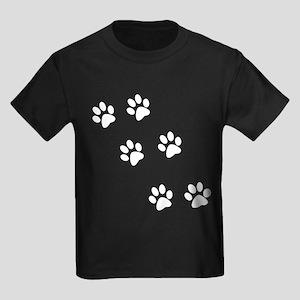 Walking Pawprints Kids Dark T-Shirt