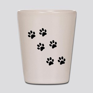 Walking Pawprints Shot Glass