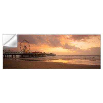 Ferris wheel near a pier, Central Pier, Blackpool, Wall Decal